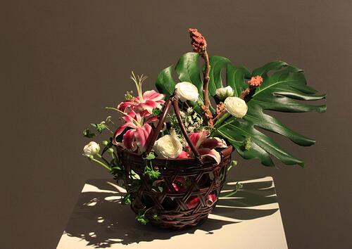 Ryurikyo Style Flower Basket
