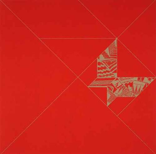 Tangram Butterfly/red