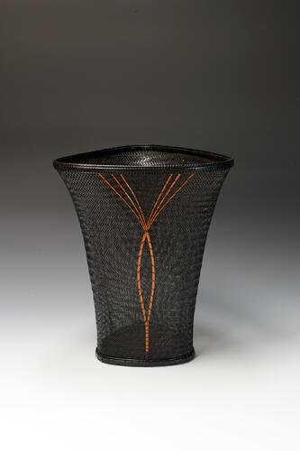 Twill-plaited Jomon-style Flower Basket